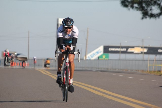 Victory with the course record at Sebring 24h Cycling Race